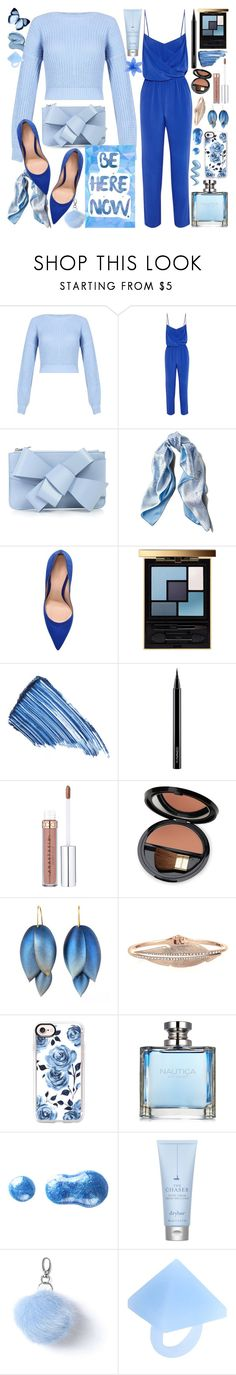 """Blue Aesthetic"" by luvmrb61899 ❤ liked on Polyvore featuring ViX, Delpozo, Asprey, Gianvito Rossi, Yves Saint Laurent, Sisley, MAC Cosmetics, Dr.Hauschka, Casetify and Nautica"