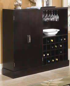 Bella Contemporary Serving Table with Wine Storage | NC Furniture | North Carolina Furniture | Furniture Direct NC