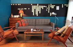 Tufted sofa makeover. Check out other sofa makeovers at The Sofa Company. www.thesofaco.com