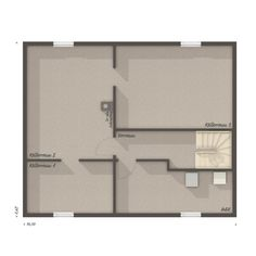 Grundriss BUNGALOW 78 trend Keller - Town Country Haus Town Country Haus, Office Supplies, Floor Plans, Home Decor, Modern Bungalow, Roof Styles, Dream House Plans, Detached House, Decoration Home