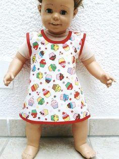 "Schürze/Tunika  ""bunte Muffins""  74/80 von  Fashion-Kids & More  auf DaWanda.com"