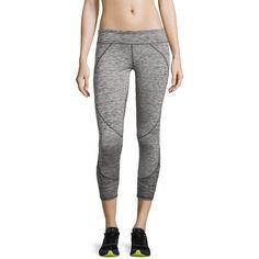 Soybu Jenissa Paneled Capri Leggings ($27) ❤ liked on Polyvore featuring pants, leggings, charcoal, wide-waistband leggings, mesh leggings, charcoal pants, legging pants and slim leg pants