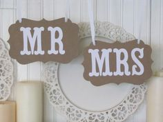 Hey, I found this really awesome Etsy listing at http://www.etsy.com/listing/160389743/mr-and-mrs-vintage-wedding-signs-wedding