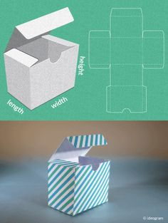 Completely custom sized template for a Gift Box. This site is AMAZING! It's FREE & all you do is put your dimensions in and it makes your template!