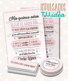 Diseño De Invitación Cumple De 15 Para Imprimir Tarjetas