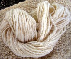 y066 Hand Spun Thick and Thin  2 Ply by traditionsfiberarts, $12.00