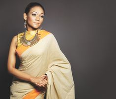Traditional Bengali cotton sari - revived for boishakh season: Cotton Blouses, Cotton Saree, Cotton Linen, White Saree Blouse, Bangladeshi Saree, Black And White Saree, Formal Saree, Sari Design, Beautiful Saree