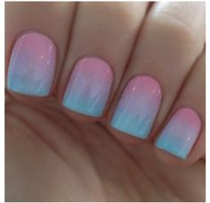 Ombre Nails cute i wonder if they work on real nails not fake
