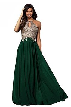 Lily Wedding Womens Halter Gold Applique Prom Bridesmaid Dresses 2018 Long Chiffon Evening Formal Gowns at Women's Clothing store: Halter Prom Dresses Long, Turquoise Prom Dresses, Prom Dresses Canada, Short Red Prom Dresses, Navy Blue Prom Dresses, Floral Prom Dresses, Plus Size Prom Dresses, Evening Dresses, Bridesmaid Dresses