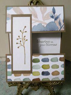 Split panel Sympathy card.  Flowering Fields stamp.