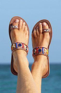 7fa57dc9fc41d 66 Best Flat Sandals images in 2019 | Sandals, Leather sandals, Flat ...