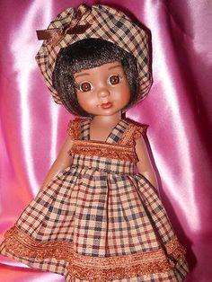Homespun dress and beret for 10 in. Ann Estelle dolls or Kish Bethany