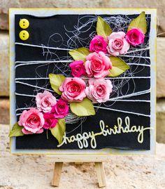 Handmade flowers card