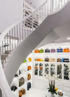 Theresa Roemer's three-story closet.