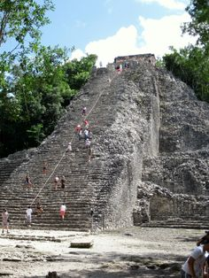 Coba Mayan Ruins -  I had broken toes and sprained ankle so couldn't climb.  My niece did though.