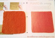 Tercer cuadrado de la manta: PUNTO DE ARROZ. #tricotfacilycreativo #punto #knitting #aprendiendoahacerpunto