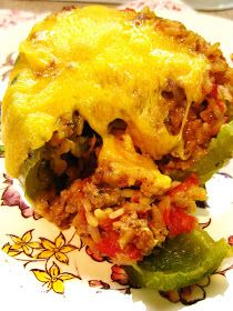 The Beehive Cottage: Mom's Stuffed Bell Peppers!