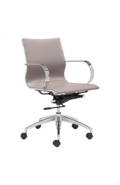 100376 - GLIDER LOW BACK OFFICE CHAIR TAUPE