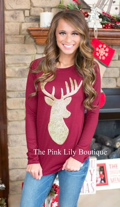 ✨Apply Laurenhrep for a 10% discount at checkout!✨   Good as Gold Reindeer Sweater - The Pink Lily Boutique
