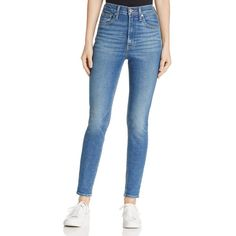 Levi's Mile High Super Skinny Jeans in Shut The Front Door Women - Bloomingdale's Levis Skinny, Blue Skinny Jeans, Super Skinny Jeans, School Girl Outfit, Cute Jeans, Denim Jeans, Look Fashion, Fashion Kids, Clothes