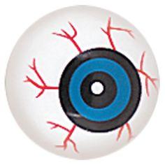 Uhyggeligt Plastik Øje - Single. Kan lægges i vindueskarmen til skræk og rædsel eller indgå som en del af en Halloween dekoration