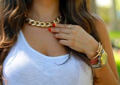 gold necklace #accessories #gold #fashion