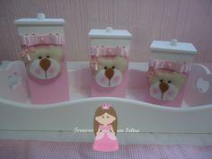 Kit Higiene Trio Ursos Rose