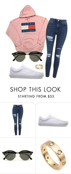 """#No name"" by eemaj ❤ liked on Polyvore featuring Topshop, Vans, Ray-Ban and Cartier"