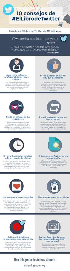 10 consejos sobre el libro de twitter #infografia de Andres Macario