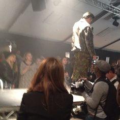 Vince Kidd Performing at Shoreditch Fashion Show - London 12/10/13