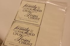 LDS Activity Day Ideas: Search results for Family proclamation