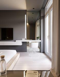 Bedroom Inspiration // Loft Interior The Perfect Scandinavian Style Home Modern Bedroom Design, Home Interior Design, Bedroom Designs, Modern Design, Scandinavian Style Home, Hotel Room Design, Suites, Trendy Bedroom, Luxurious Bedrooms