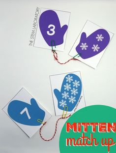 If you're looking for a fun preschool math activity, these winter mittens are for you. The playful match up gives kids plenty of practice with number recognition, counting and (as a bonus!) fine motor skills they'll need for writing numbers later. #numbers #preschoolmath #winteractivities