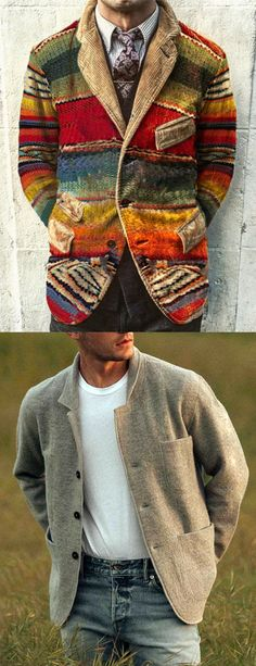 There are a lot of fashion men's jackets, coats, pants, sweaters you can option. You can choose gentleman style, homewear style, cool style or other styles. Free shipping on order over $69, shop now! #fall #winter #men #coats #jackets Stylish Mens Outfits, Men's Jackets, Rainbow Print, Corduroy Jacket, Gentleman Style, Cool Style, Shop Now, Fall Winter, Coats