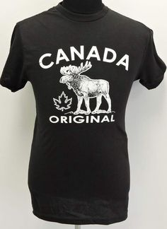 539ec0e04 Items similar to Men's Canada Moose Original T-Shirt soft cotton vintage  style on Etsy