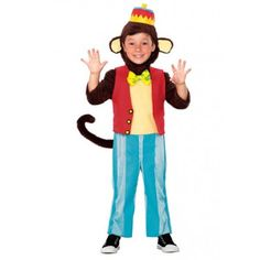 Cute Circus Monkey Costumes for Kids (4 piece)