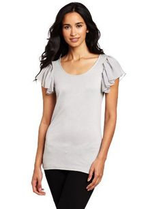 Coupe Collection Women's Mary Top Coupe Collection. $19.63. Knit top has a regular fit and the label on the back neck. 100% Viscose. Machine Wash. Knit solid top with open crew neck and layered 1/4 flutter sleeve
