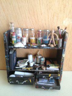 artist shelf unit Alexandra Cantatore