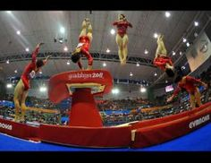 Gymnastics In Motion Picture   Multiple Exposure Photos of Gymnasts - ABC News