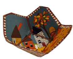 Small Reversible Fabric Bowl in Autumn Scene by Sieberdesigns