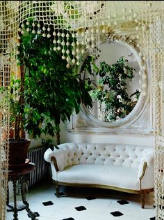 """A """"Crochet"""" Curtain creates a cozy nook. great place for photoshoot have used before!"""
