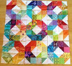 Rainbow wheel blocks WIP. Riain on flickr