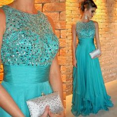 2015 Casual Robe De Soiree Dresses Elegant Ruched Chiffon Evening Dresses A Line With Sequined Ruched Sash Prom Party Gown Custom Chiffon Evening Dresses, Black Evening Dresses, Elegant Dresses, Evening Gowns, Beautiful Dresses, Party Gowns, Party Dress, Prom Party, Lace Bridesmaid Dresses