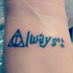 Harry Potter hp always deathly hallows reliquias da morte tattoo tatuagem Artist: Carina Roma / Brasil