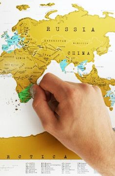 Scratch off travel map - great gift for the worldly traveler #product_design