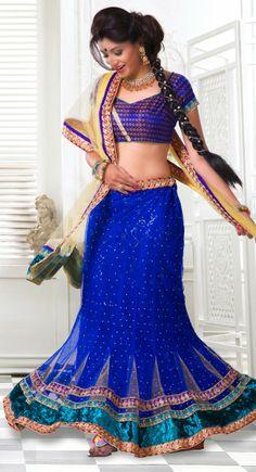 Lush Blue Lehenga Choli