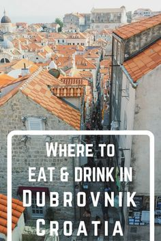 A Dubrovnik food guide for your trip to Croatia. Find out what to eat in Dubrovnik, Crotia. Don't miss these Dubrovnik restaurants and bars! Croatia Travel Guide, Europe Travel Tips, European Travel, Places To Travel, Places To Go, Travel Destinations, Croatia Itinerary, Holiday Destinations, Italy Travel