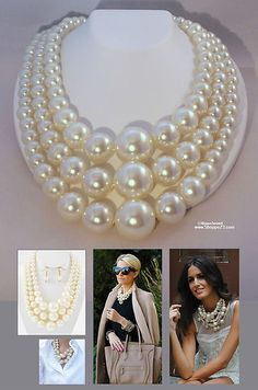 BIG Pearl Statement Necklace | Always Free USA Shipping