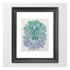Emerald Elephant In The Lilac Evening Framed Art Print ($33) ❤ liked on Polyvore featuring home, home decor, wall art, framed art prints, framed wall art, elephant wall art, emerald green home decor, animal wall art and elephant home decor
