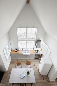 Summerhouse somewhere near Copenhagen, Denmark. Clean and bright white